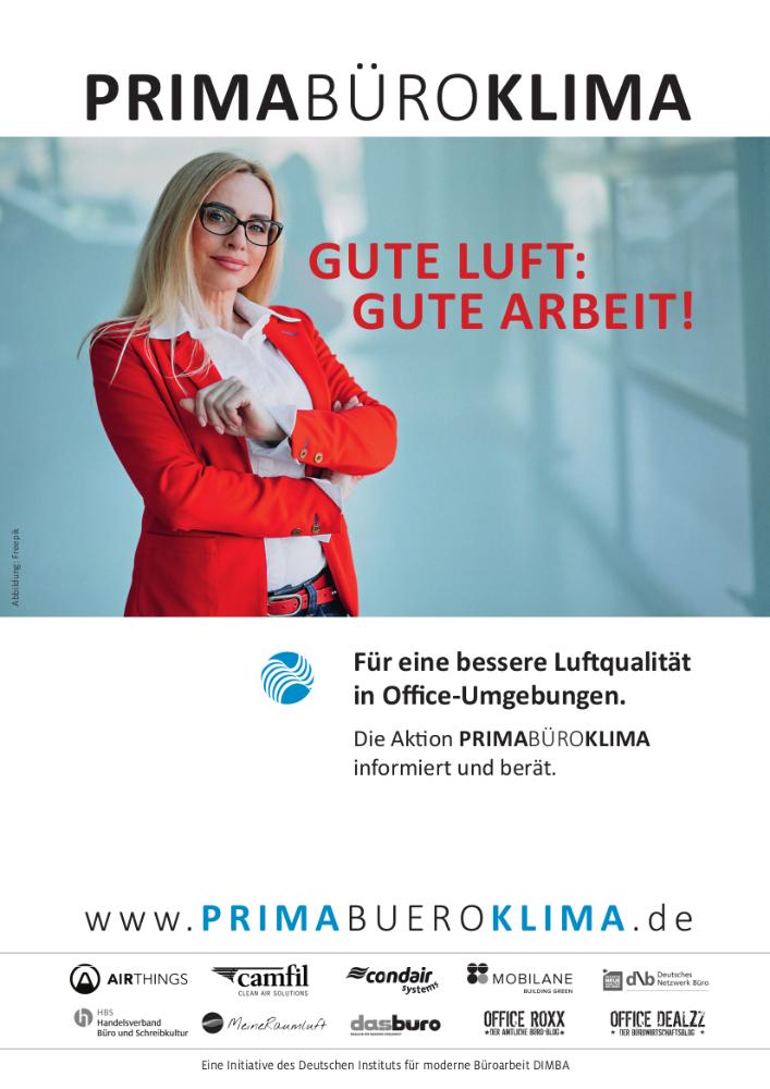 Die Initiative PrimaBüroKlima engagiert sich für ein besseres Raumklima in Büroumgebungen.