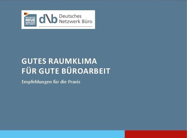 """Die DNB-Broschüre """"Gutes Raumklima für gute Büroarbeit"""" ist kostenlos. Abbildung DNB"""