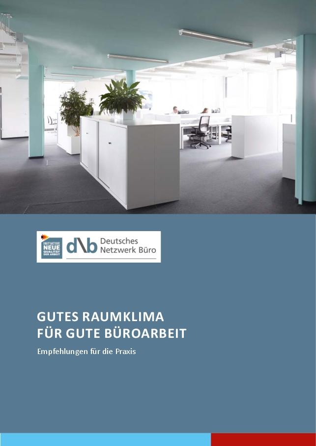 """Die Broschüre """"Gutes Raumklima für gute Büroarbeit"""" ist kostenlos. Abbildung: DNB"""
