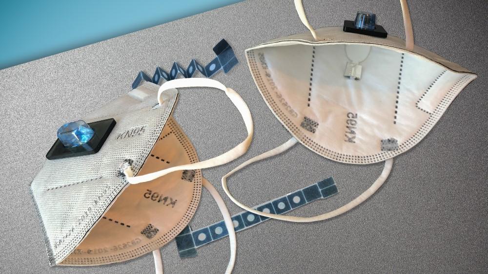 Biosensoren in der Maske können bei der Diagnose einer Corona-Infektion helfen. Abbildung: Felice Frankel, MIT News Office
