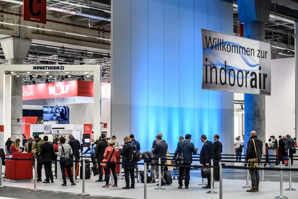 Rund 2.300 Fachbesucher zählte die Messe Frankfurt auf der Indoor Air. Abbildung: Pietro Sutera, Messe Frankfurt