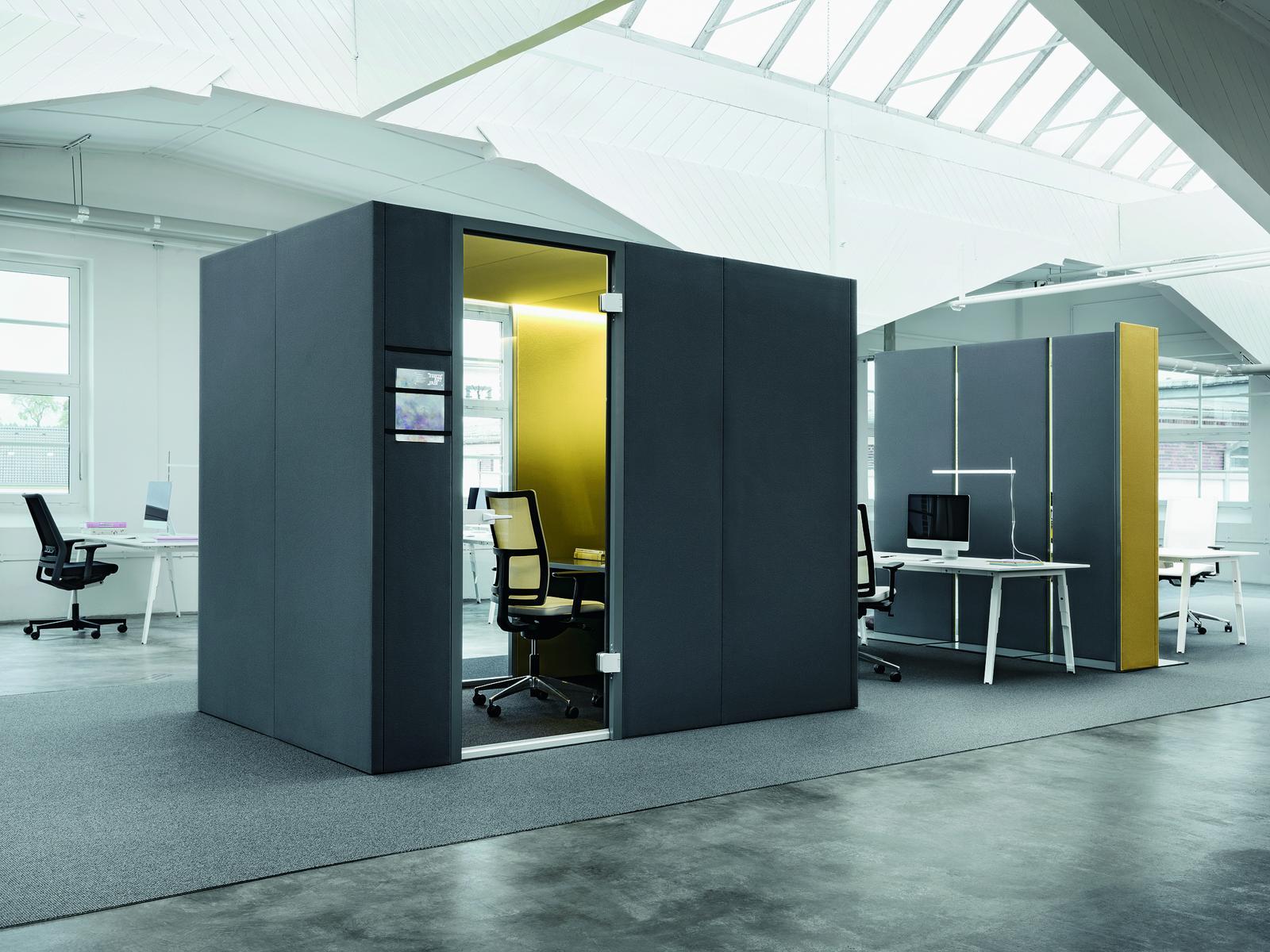 Raumstation im open space office roxx for Bureau open space