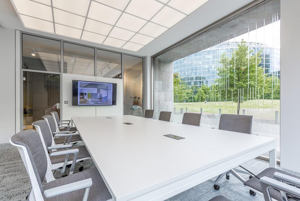 Teil des OffX: ein komplett ausgestatteter Meetingraum.