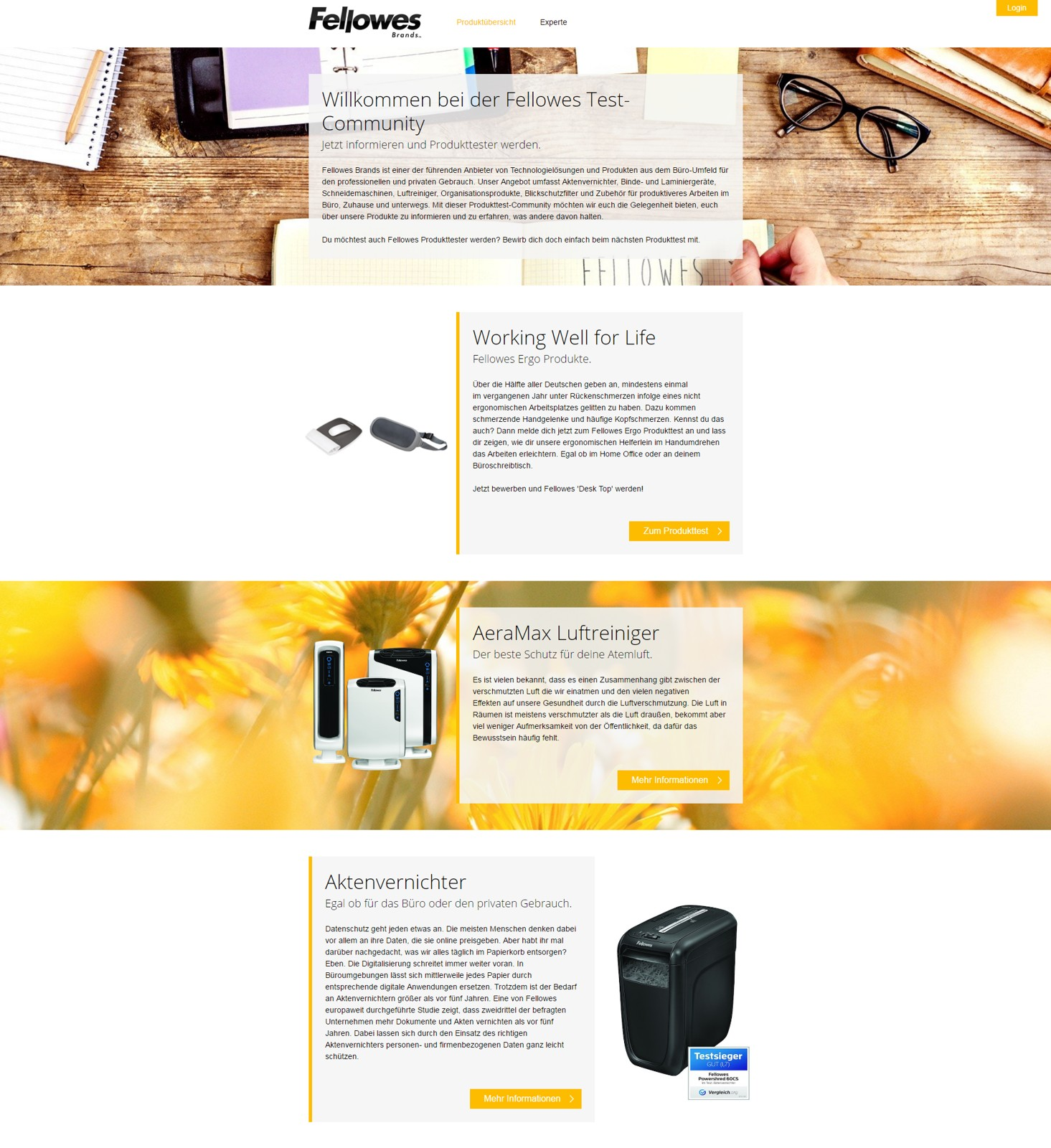 Fellowes Produkttests