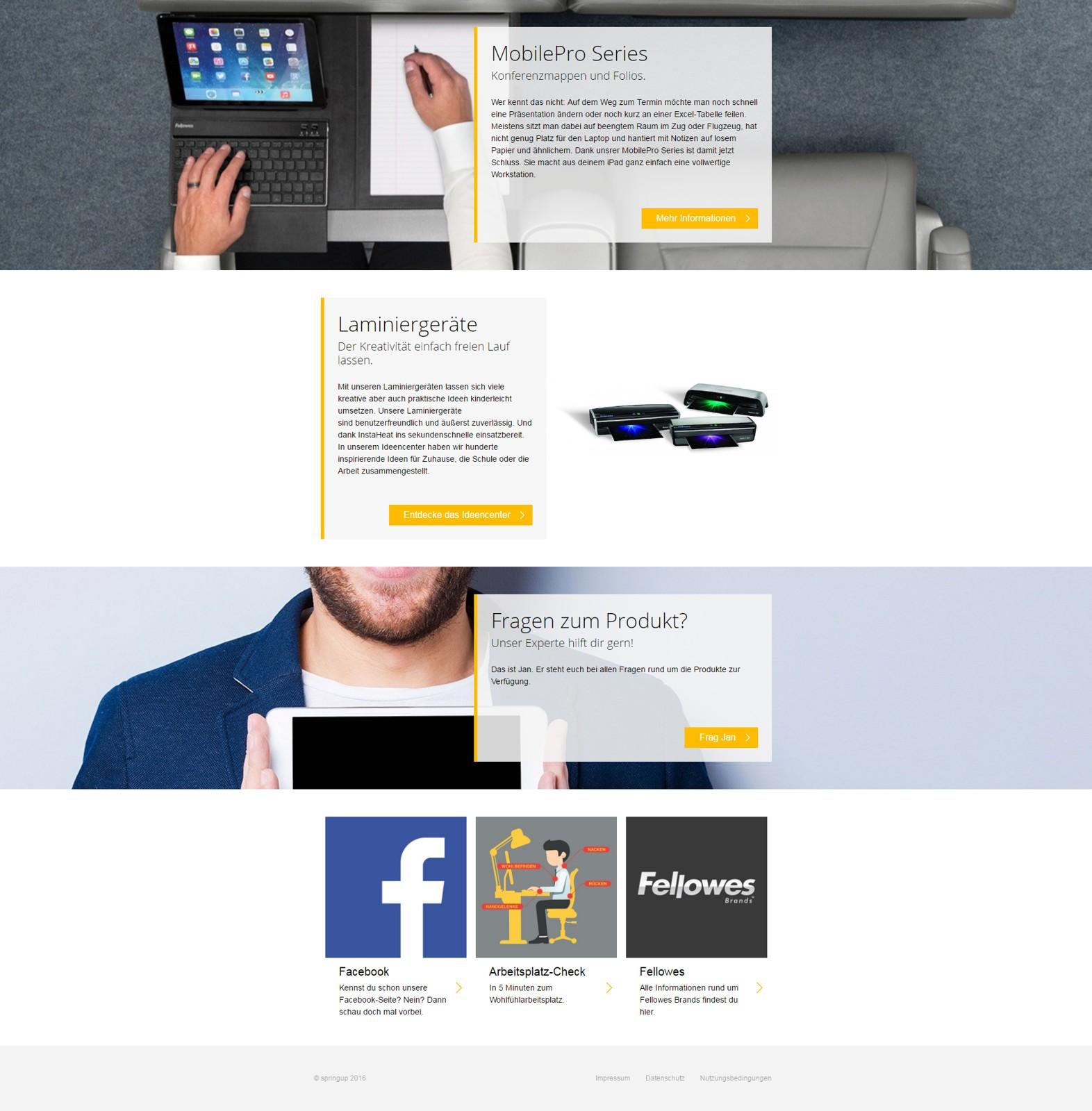 Wer sich für die Produkte von Fellowes interessiert, sollte auch einen Blick auf die neue Facebook-Seite des Unternehmens werfen.