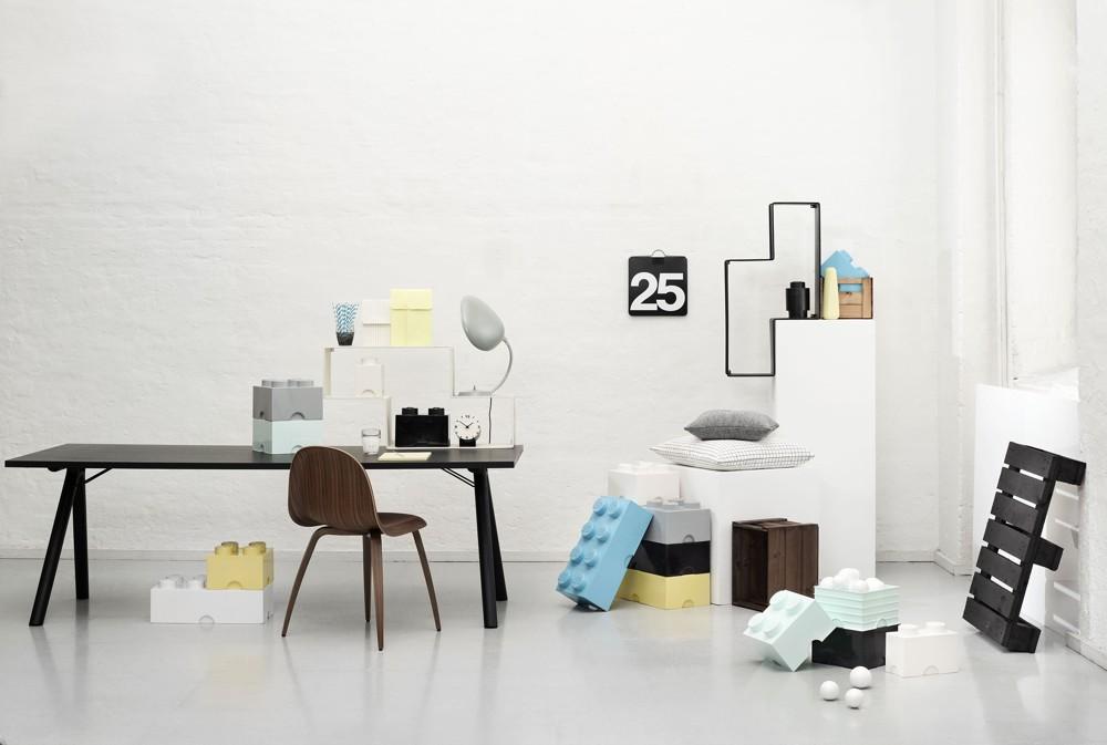 Lego: Ordnung im Büro mit den Storage Bricks von Room Copenhagen.
