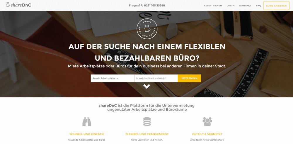 ShareDnC ist das Airbnb für Büroräume und findet für jeden die passende Bürolösung.