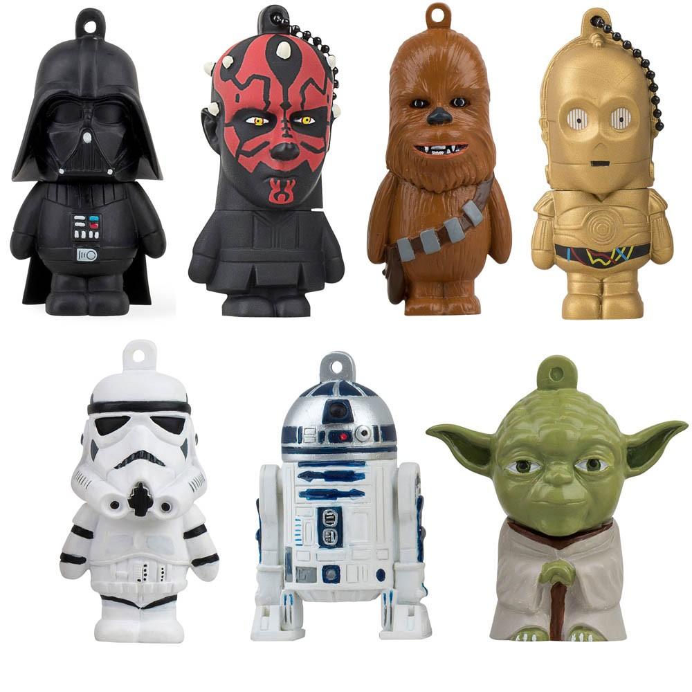 Natürlich dürfen auch die Figuren von Star Wars bei den Motiv-USB-Sticks nicht fehlen.