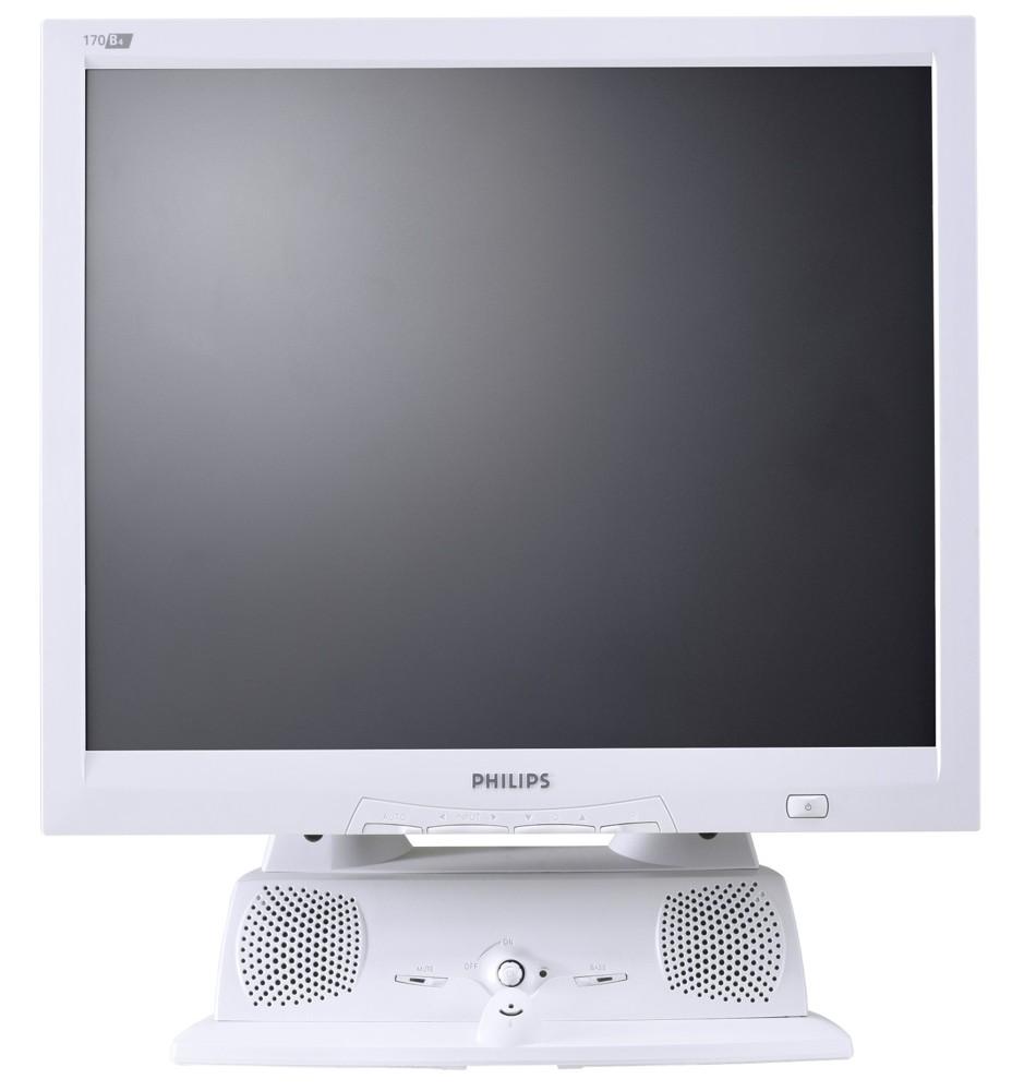 """Office-Monitor: Inklusive """"Soundsystem"""" präsentiert sich dieser Philips-Monitor aus dem Jahr 2003."""