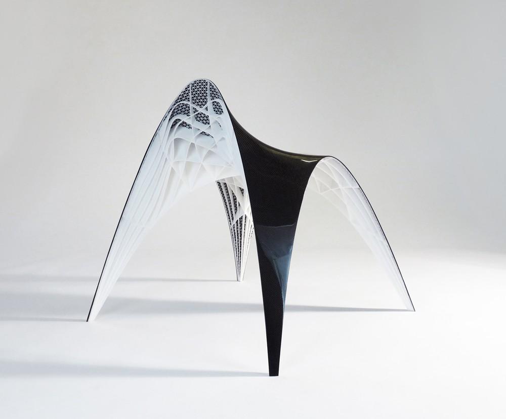 Das Skelett des Gaudi Chair von bram geenen wurde gedruckt. Foto: Studio Bram Geenen