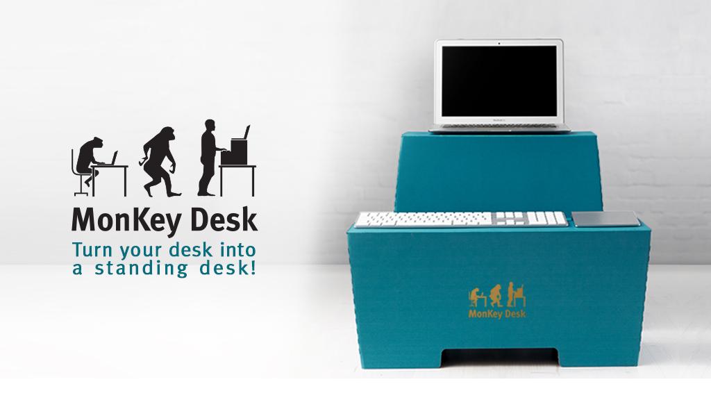 MonKey Desk – Der Sitz-Steh-Arbeitsplatz aus Pappe