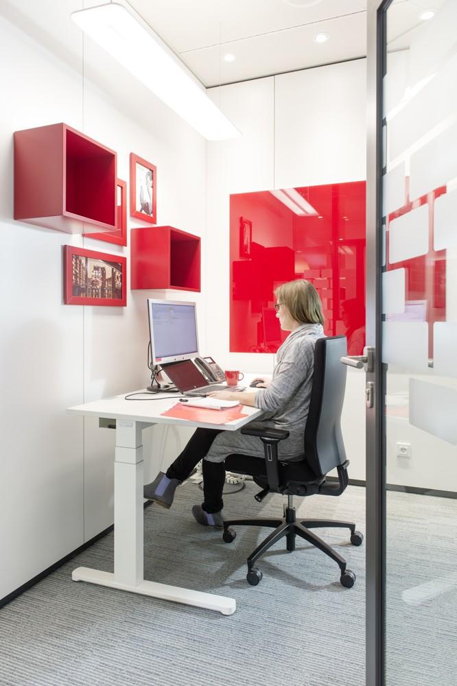Privatsphäre: einer der Arbeitsplätze für konzentriertes Arbeiten.