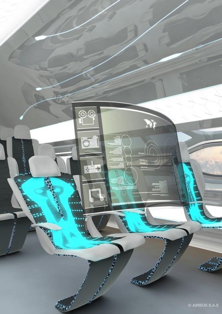 Future Meeting: So könnten Flugzeugkabinen künftig aussehen. Foto: Airbus