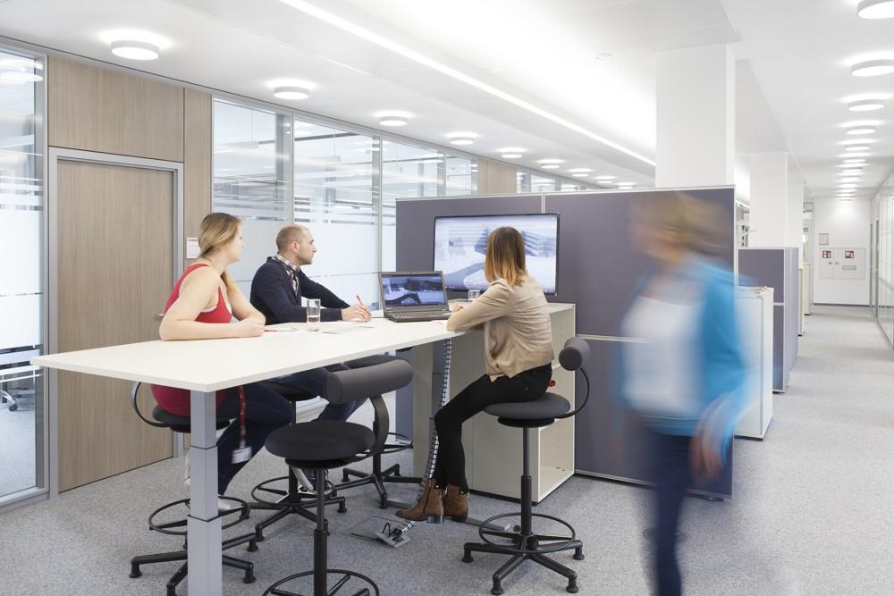 Zone für die interaktive Zusammenarbeit. Fotos: M.O.O.CON/Walter Oberbramberger