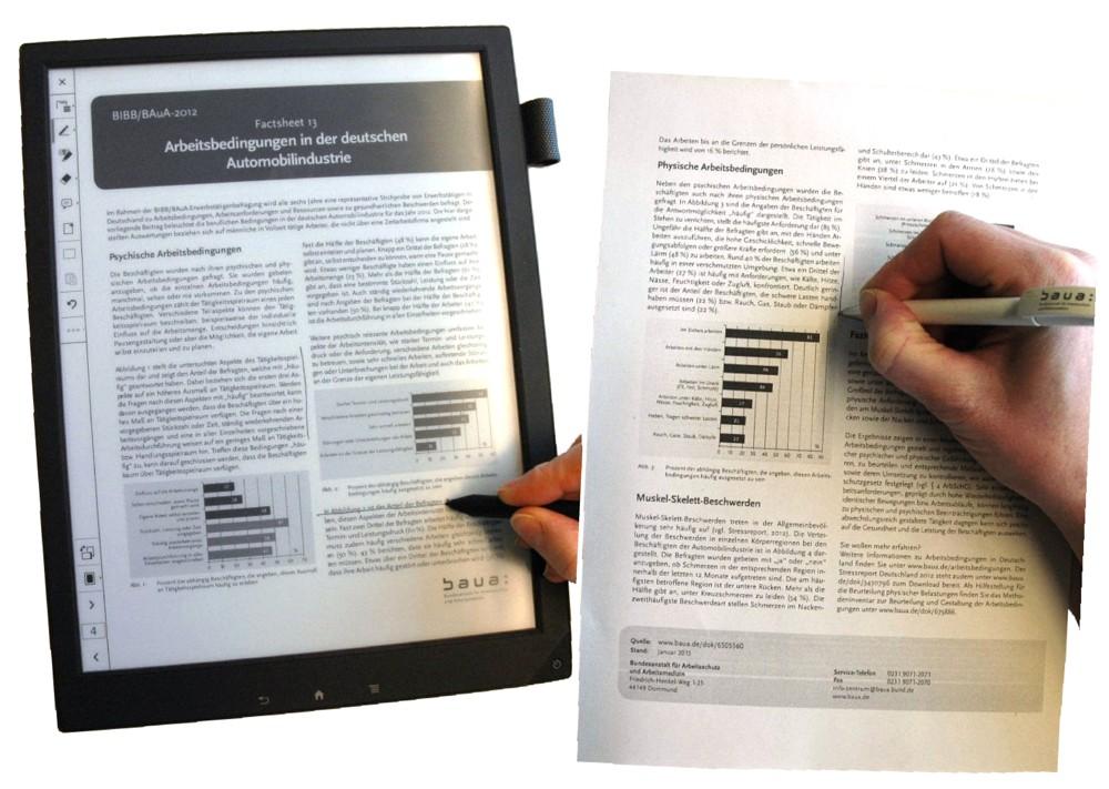 Papier vs. Display: Was eignet sich besser für Büroarbeit