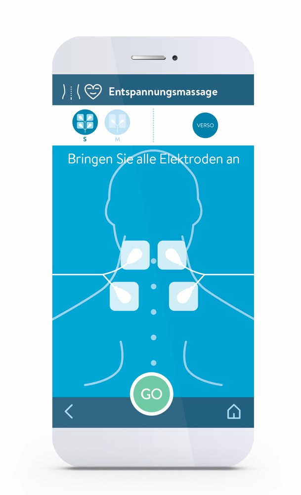 Einfach zu bedienen und übersichtlich: die App von Bluetens.