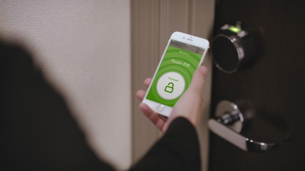 Vor Ort wird das Smartphone zum Zimmerschlüssel.