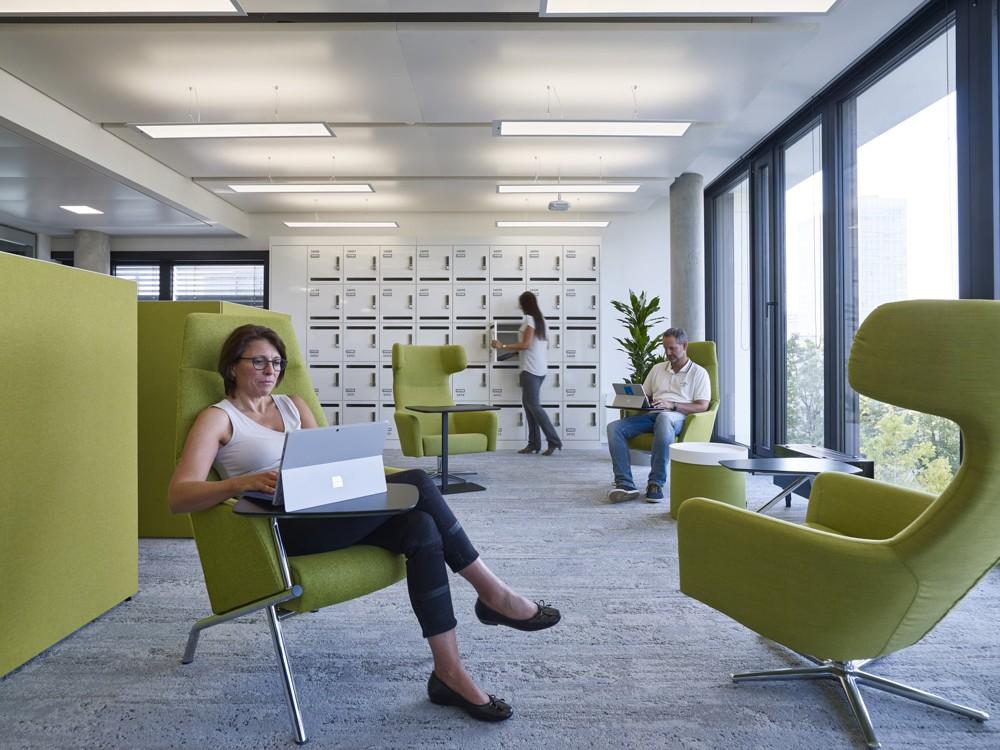 Die Think Zone: Rückzugsbereich für hochkonzentrierte Alleinarbeit. Foto: Microsoft