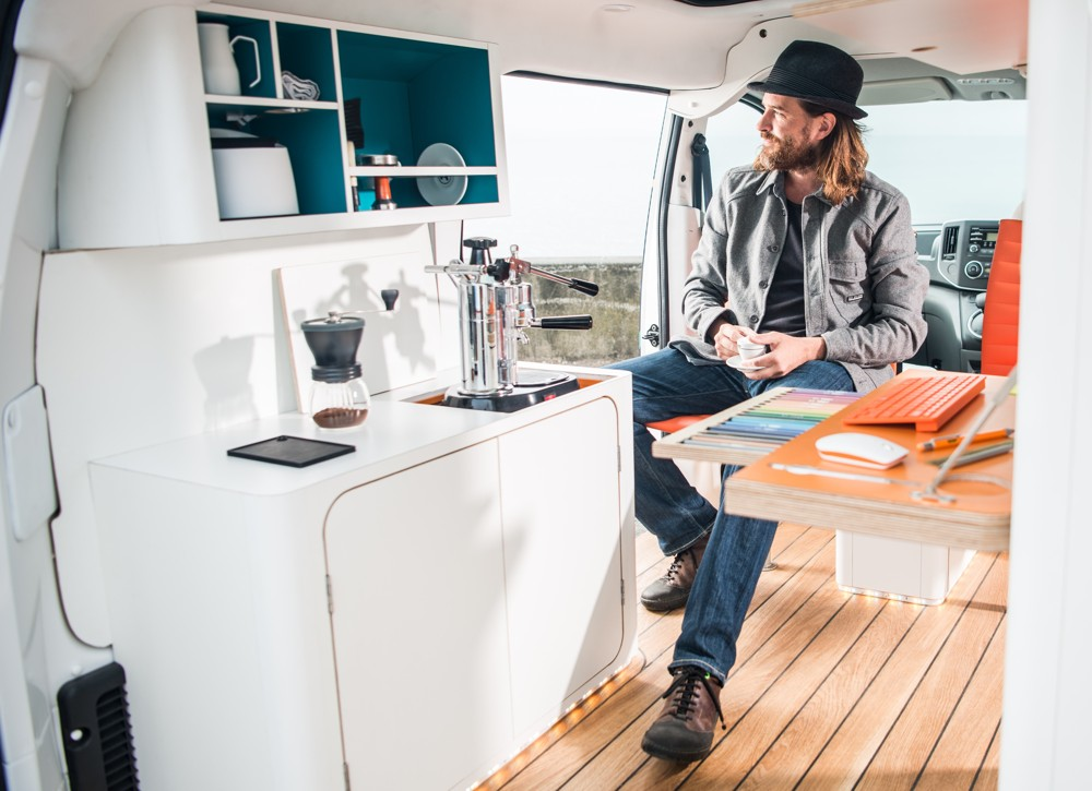 Kein Büro ohne Kaffeeküche. Auch kein mobiles.