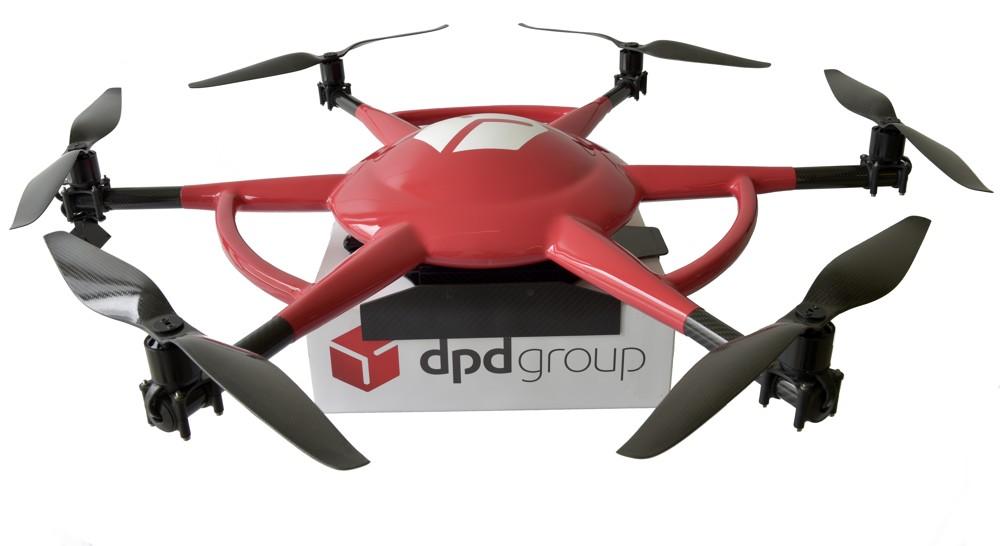 Drohne der DPDgroup
