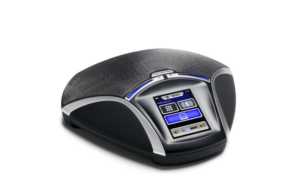 Konftel brachte 2013 mit dem Konftel 55 das erste Konferenztelefon mit farbigem Touchscreen und UC-Integration auf den Markt. Foto: Konftel