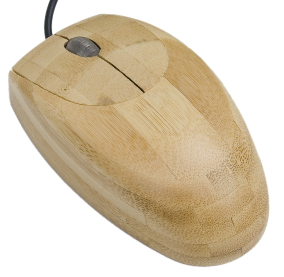 Maus aus Bambus.