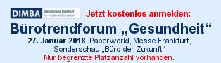 Bürotrendforum Gesundheit auf der Paperworld 2018
