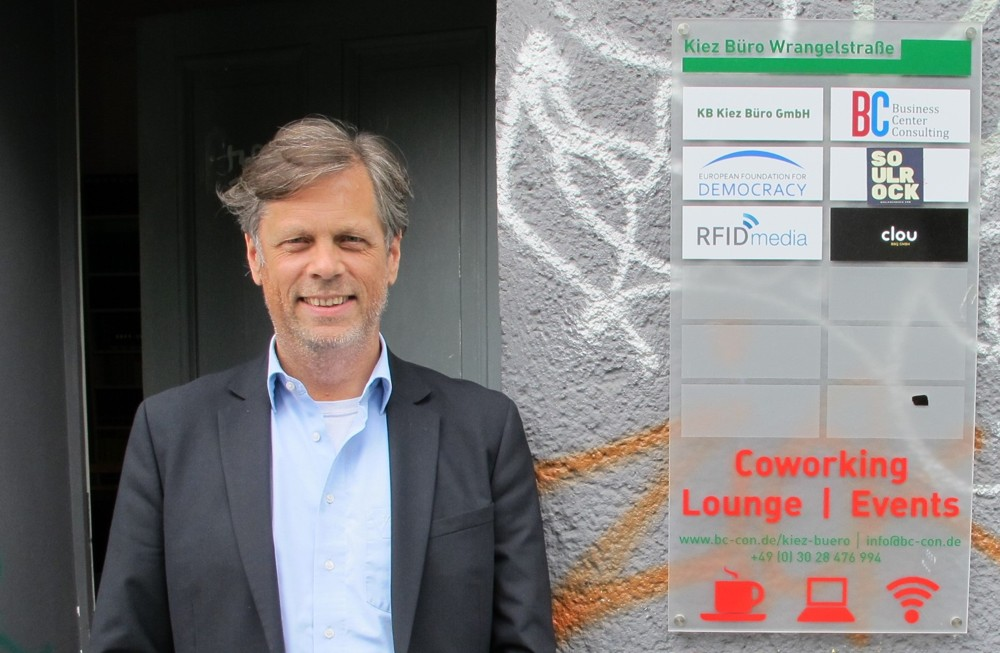 Björn Budack vom Kiez Büro Kreuzberg.