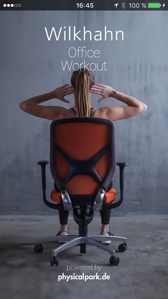 Pausen: Die App Office Workout animiert zu bewussten Bewegungspausen am Schreibtisch.