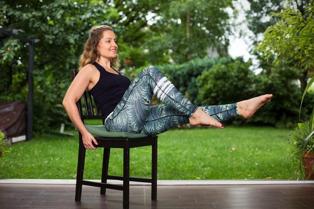 Fitnessübungen: Single Leg Extension.