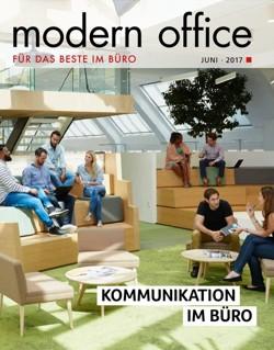 """Unter dem Titel """"Modern Office"""" lag am 12. Juni 2017 der Süddeutschen Zeitung ein Heft zum Thema """"Kommunikation im Büro"""" bei."""