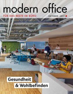 """Unter dem Titel """"Modern Office"""" lag am 9. Oktober 2017 der Süddeutschen Zeitung ein Heft zum Thema """"Gesundheit & Wohlbefinden"""" bei."""