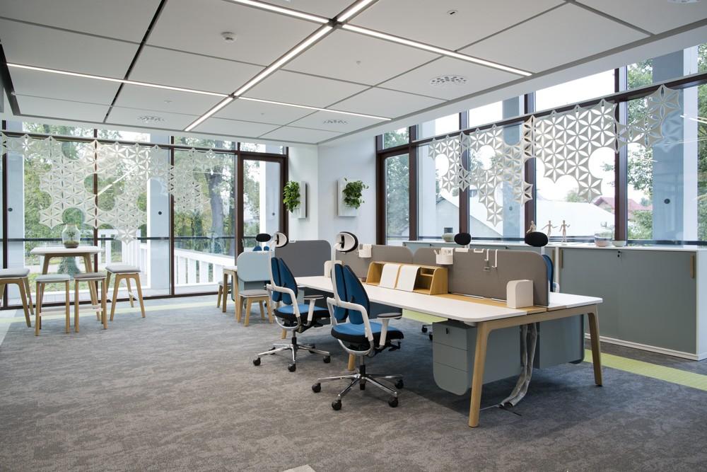 Das Büromöbelsystem Levitate. Foto: Nowy Styl