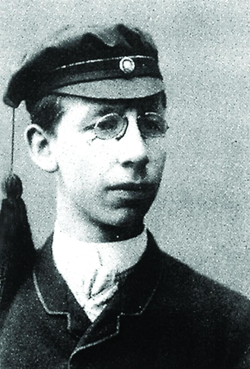 Einer der Erfinder der Büroklammer: Der Norweger Johan Vaaler im Jahr 1887 als Student. Foto: Wikimedia Commons