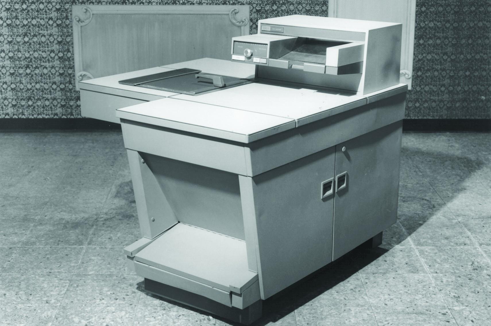 Nr. 914: Der erste Serienmäßige Kopierer lief 1959 vom Band. Abbildung: Xerox