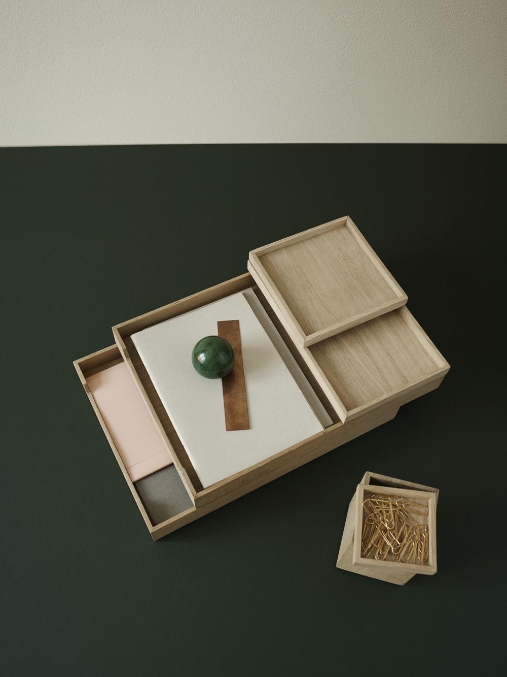Nomad Letter Tray von Skagerak. Abbildung: desiary.de – Fine living accessories