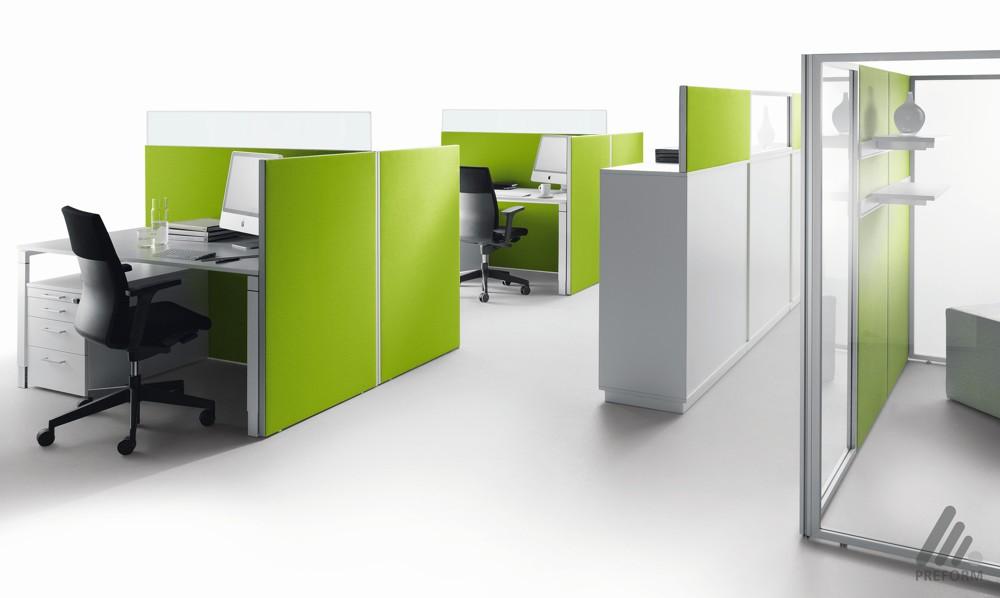 Decato Modul-ModulSystem: Baukasten-Raumgliederungssystem/Arbeitsplatzumbauung. Design Nicole Liebrich.