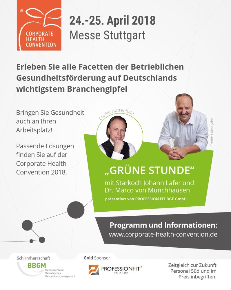 Ein Highlight der Corporate Health Convention ist die