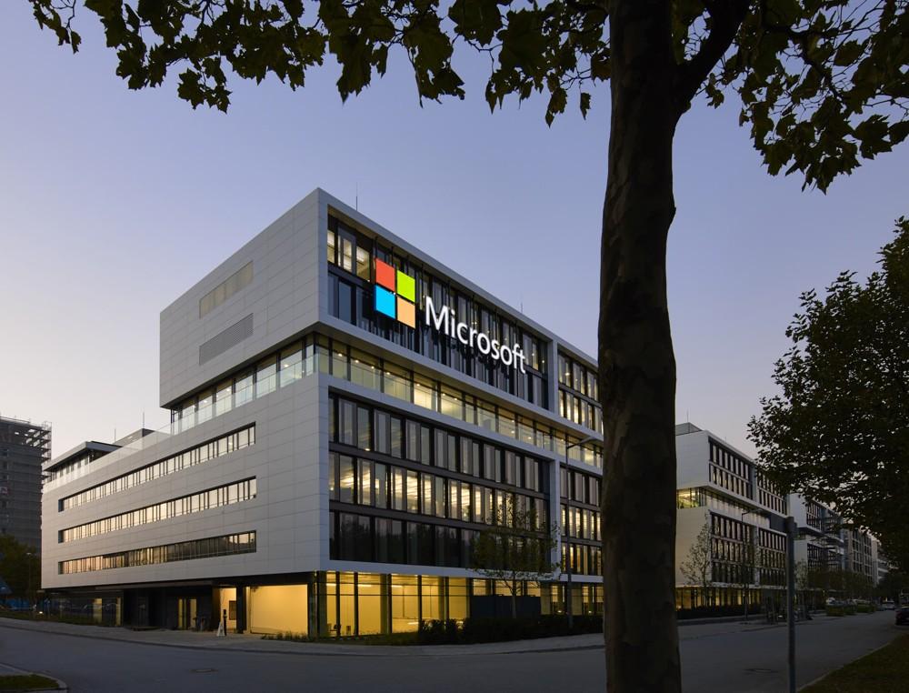 Microsofts Deutschlandzentrale in München-Schwabing.