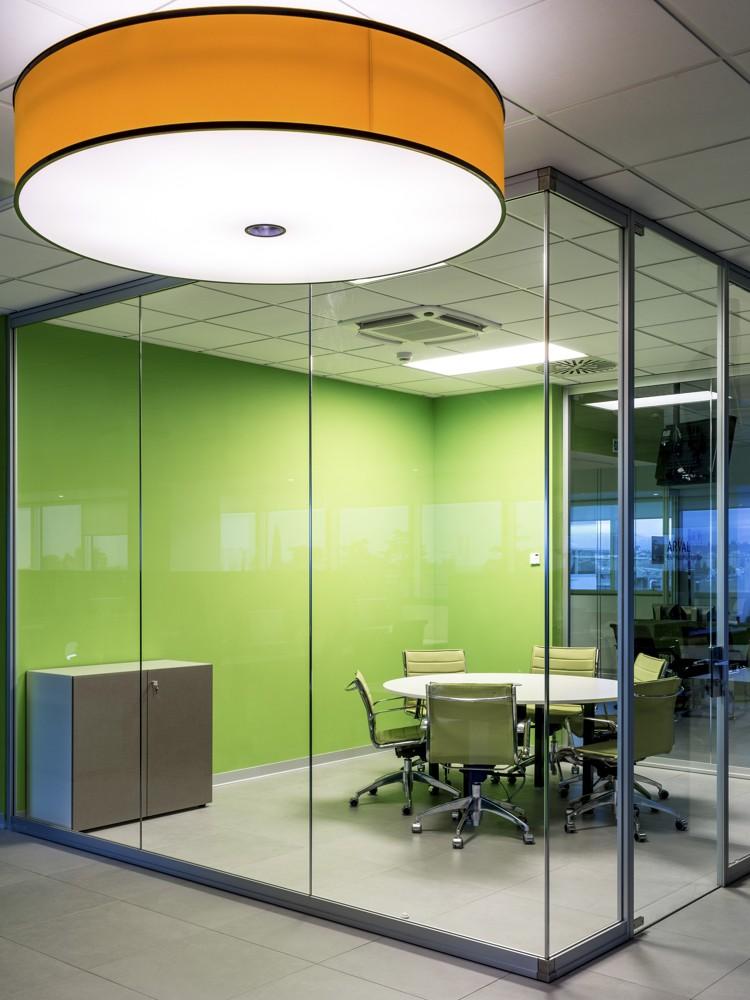 Jeder Etage wurde eine Hauptfarbe zugeordnet. Hier ist es Grün. Abbildung: Francesco Degli Innocenti