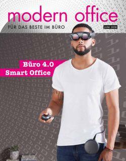 """Unter dem Titel """"Modern Office"""" lag am 4. Juni 2018 der Süddeutschen Zeitung ein Heft zum Thema """"Büro 4.0: Smart Office"""" bei."""