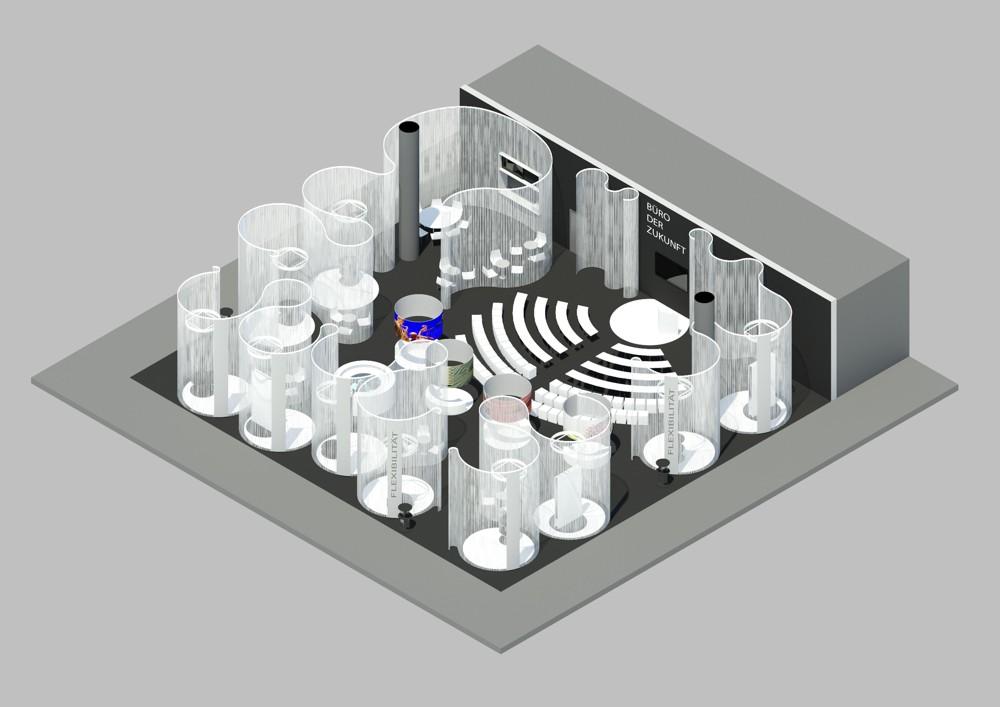 Planungsskizze für das Sonderschauareal in Halle 3.0.  Abbildung: Paperworld/Messe Frankfurt.