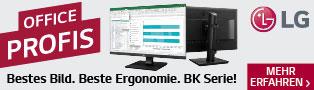 OFFICE PROFIS von LG: Bestes Bild. Beste Ergonomie. BK Serie!