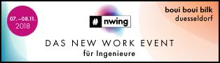 #nwing DAS NEW WORK EVENT für Ingenieure, 07.-08.11.2018, boui boui bilk, düsseldorf