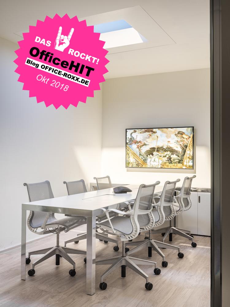 Halle 8: Sedus hat ein von CoeLux entwickeltes Beleuchtungssystem präsentiert. Es bringt künstliches Sonnenlicht ins Büro – und zwar verblüffend echt. OfficeHIT! Abbildung: CoeLux