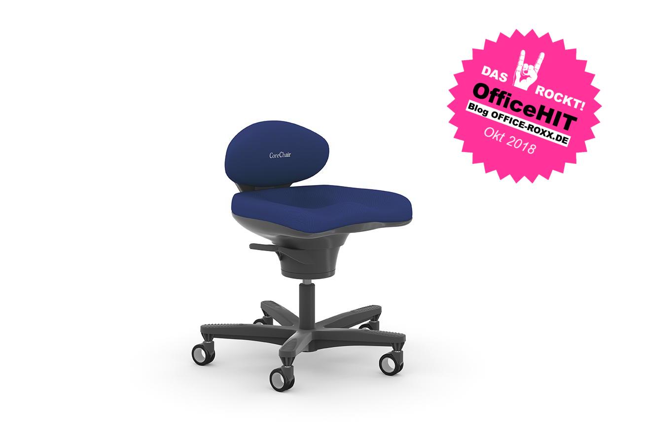 Halle 7: Der CoreChair von Viasit – aufgrund seines bewegenden Sitzerlebnisses OfficeHIT der Orgatec. Abbildung: Viasit