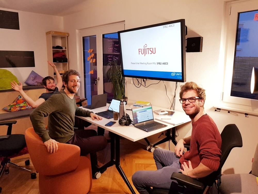 Coliving: Gemeinsam wohnen, gemeinsam arbeiten – so lautet das Prinzip im Hyprspace. Abbildung: Fujitsu