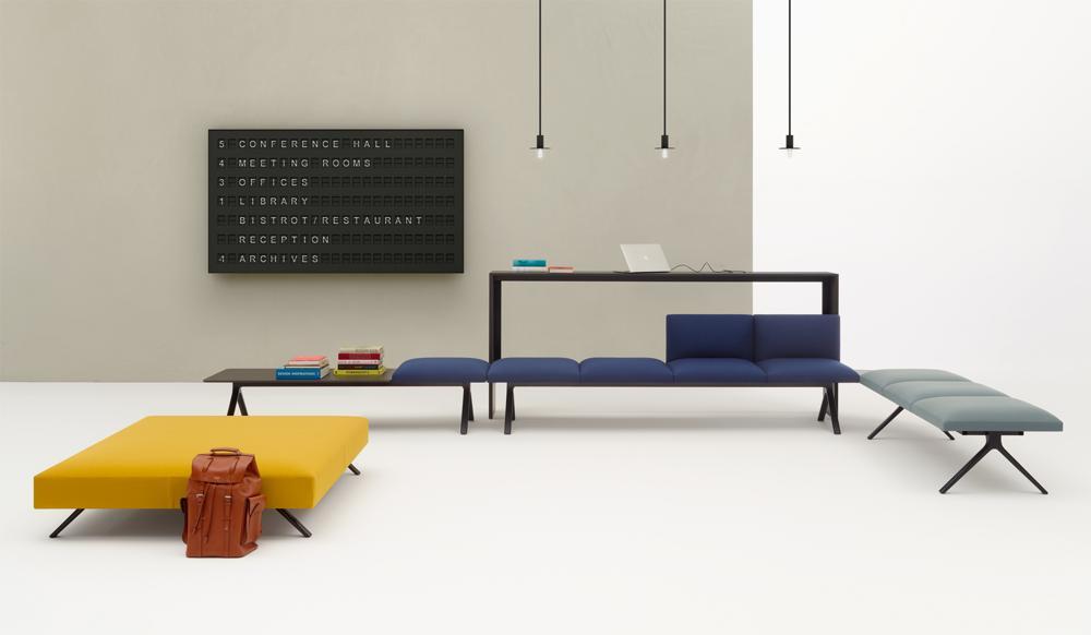 Halle 10.2: Soft-Seating-Programm Kiik. Abbildung: Arper