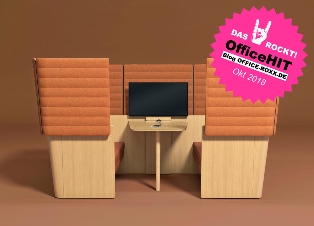 Halle 10.2: Arcipelago Wood von Narbutas ist  flexibel kombinierbar, komfortabel - und mit ganz viel angesagtem wohnlichen Holz. OfficeHIT! Abbildung: Narbutas