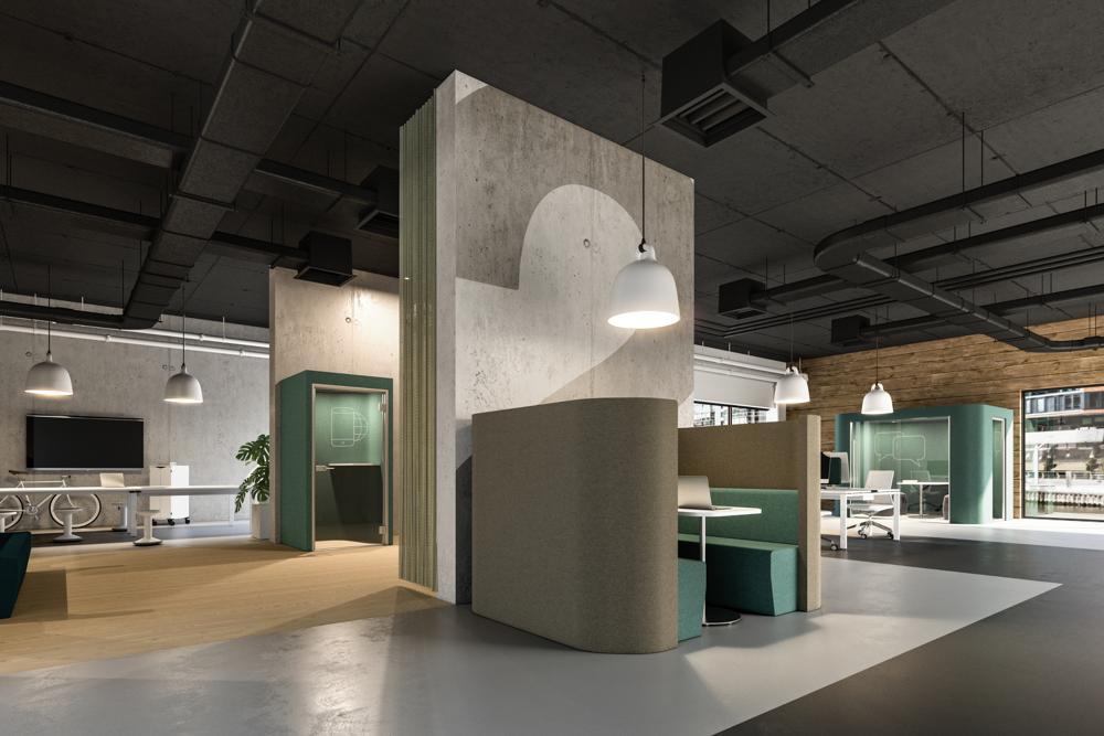 Halle 8: Syneo Lounge-Möbel von Assmann. Abbildung: Assmann